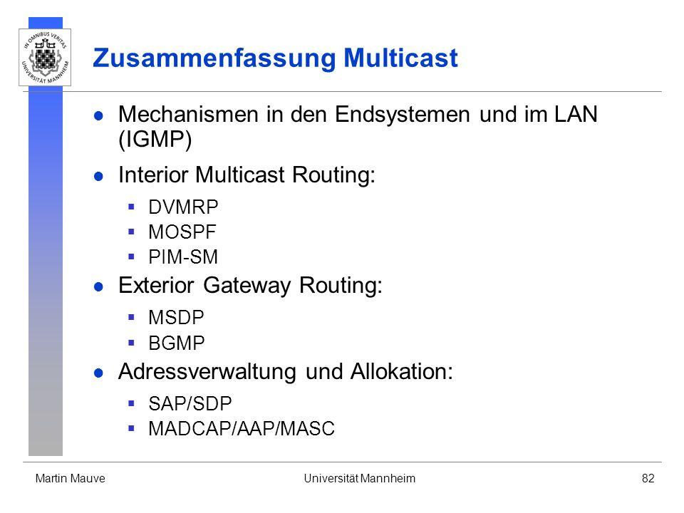 Zusammenfassung Multicast