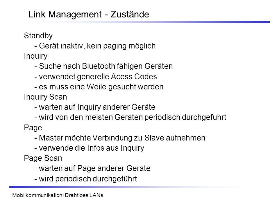 Link Management - Zustände