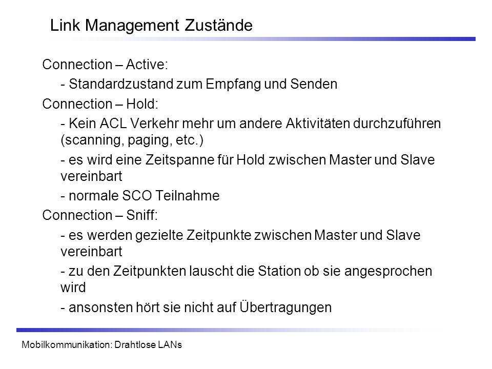 Link Management Zustände