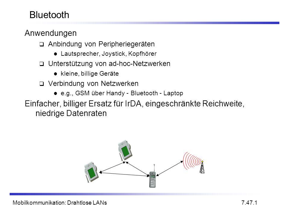 Bluetooth Anwendungen