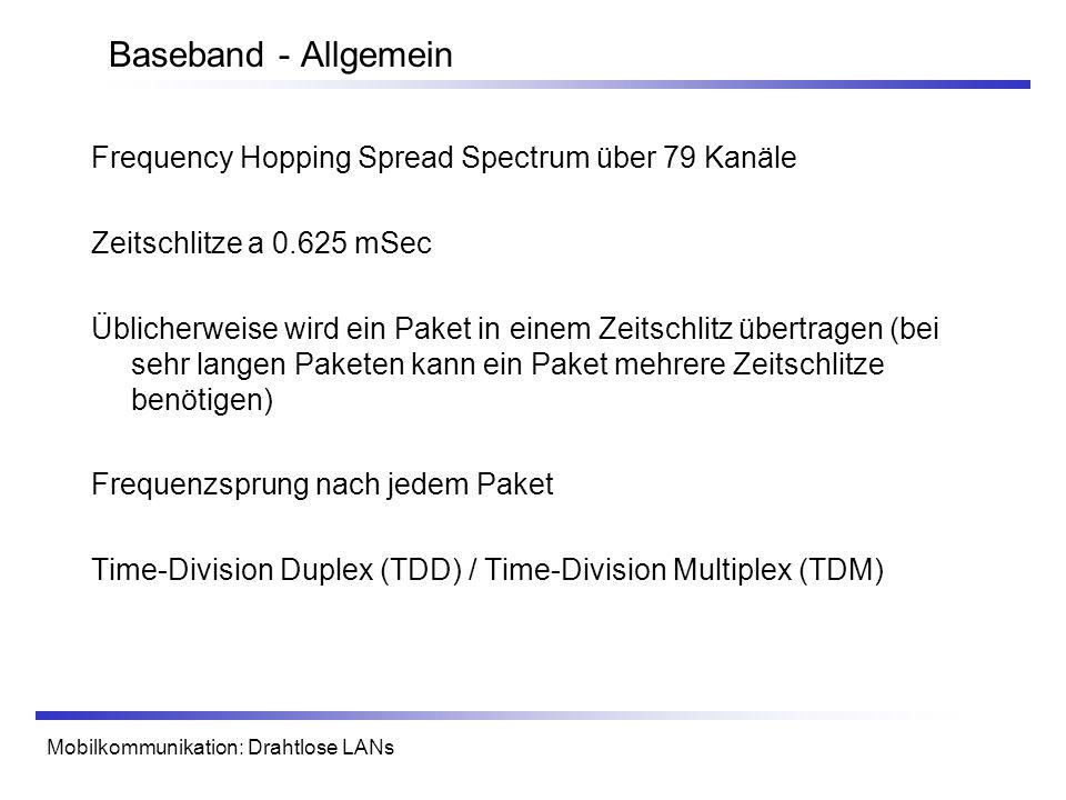 Baseband - Allgemein Frequency Hopping Spread Spectrum über 79 Kanäle