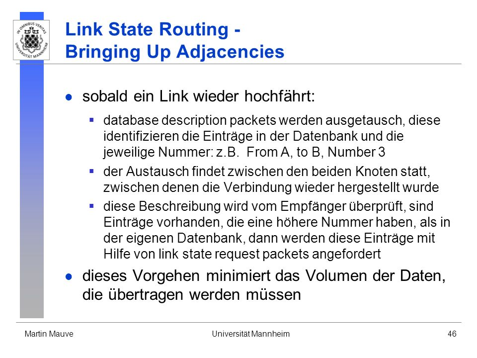 Link State Routing - Bringing Up Adjacencies