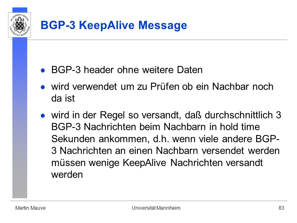 BGP-3 KeepAlive Message