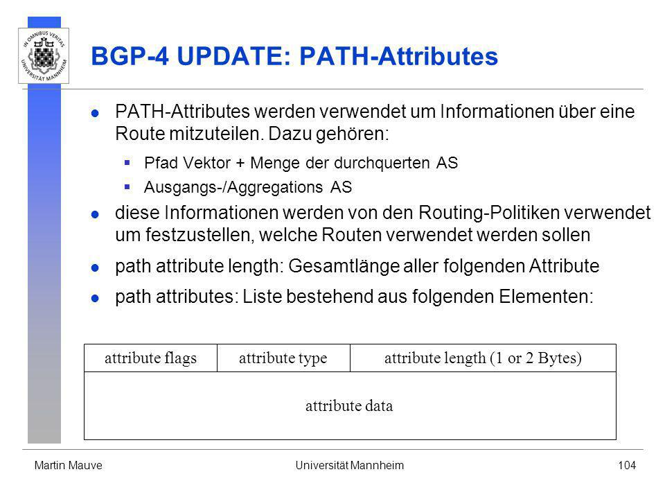 BGP-4 UPDATE: PATH-Attributes