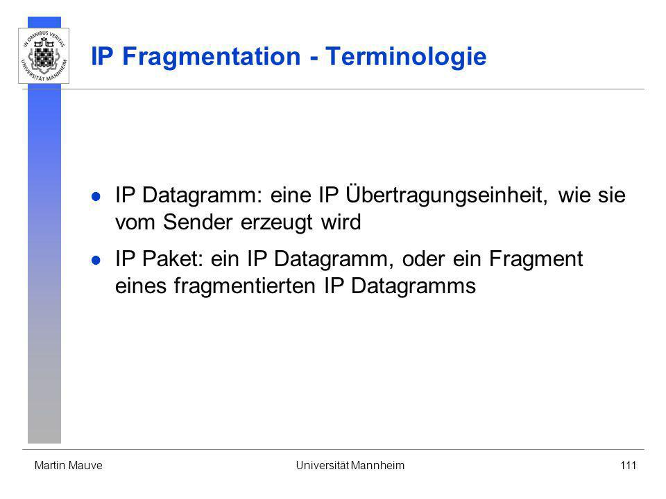 IP Fragmentation - Terminologie