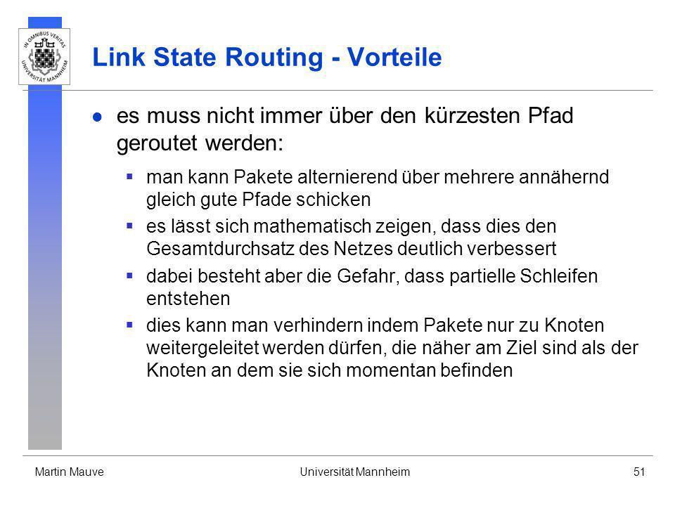 Link State Routing - Vorteile