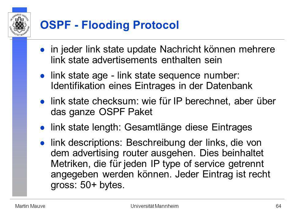 OSPF - Flooding Protocol