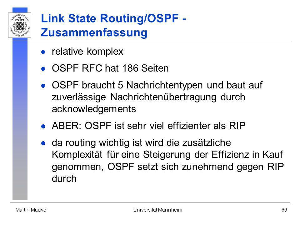 Link State Routing/OSPF -Zusammenfassung