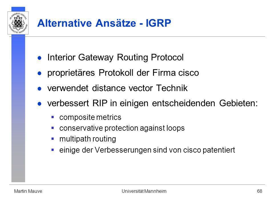 Alternative Ansätze - IGRP
