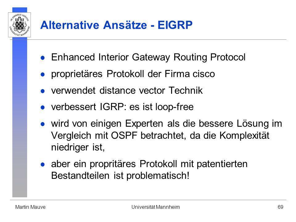 Alternative Ansätze - EIGRP