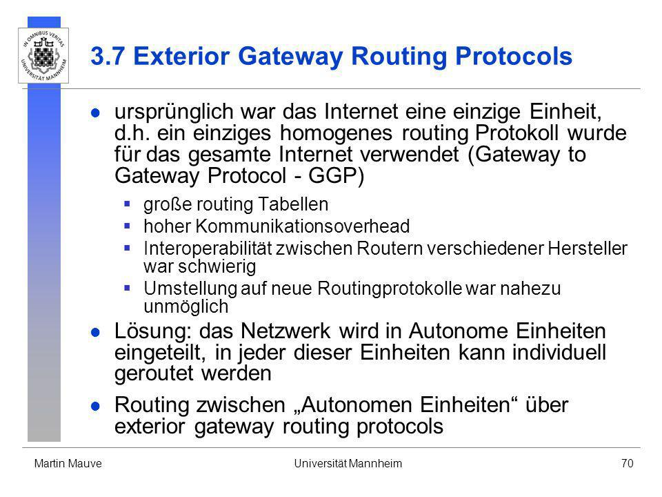 3.7 Exterior Gateway Routing Protocols