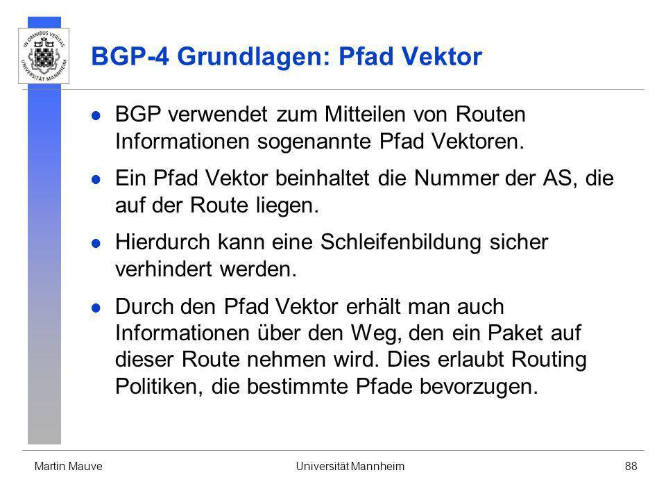 BGP-4 Grundlagen: Pfad Vektor