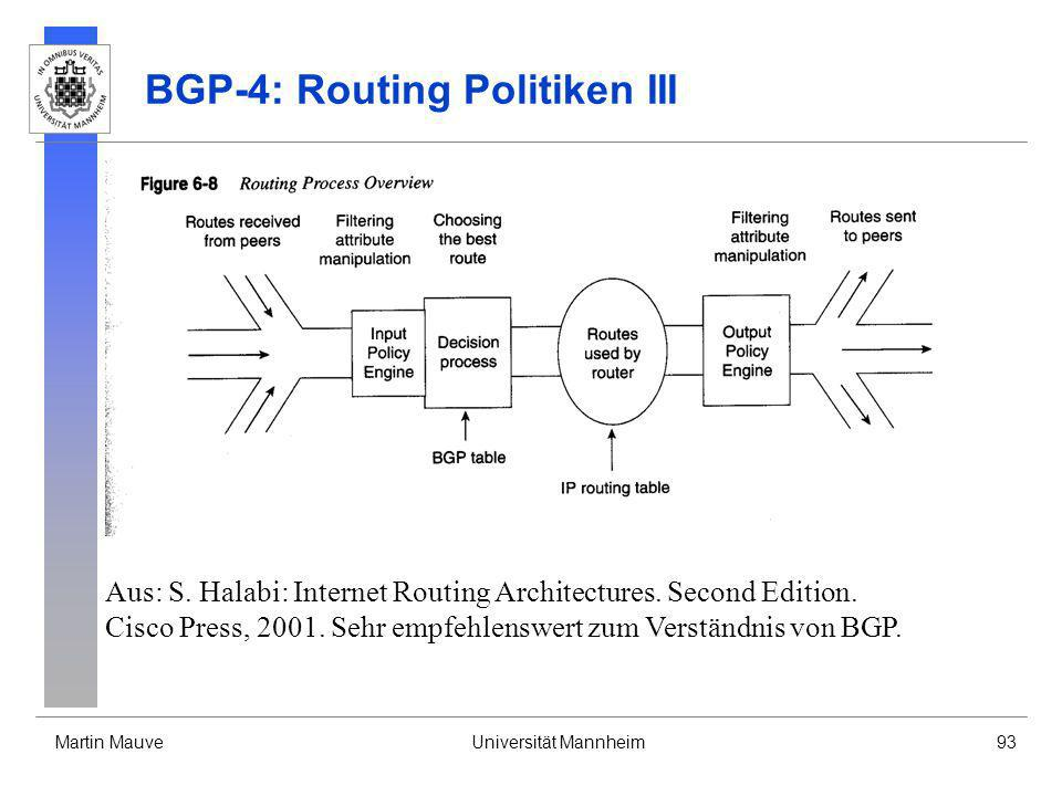 BGP-4: Routing Politiken III