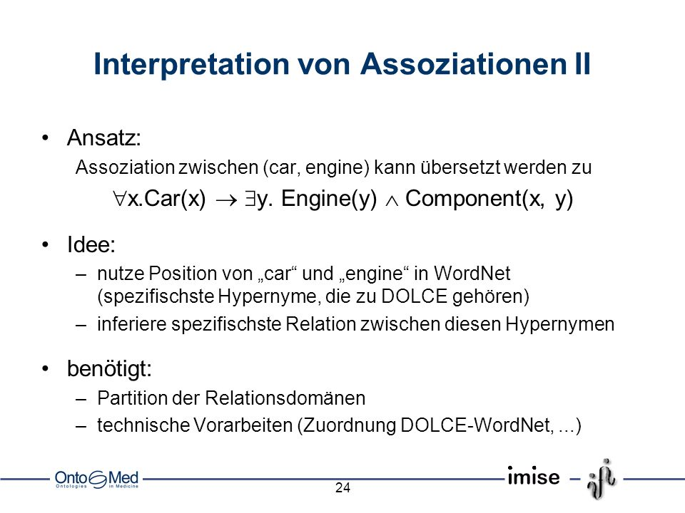 Interpretation von Assoziationen II