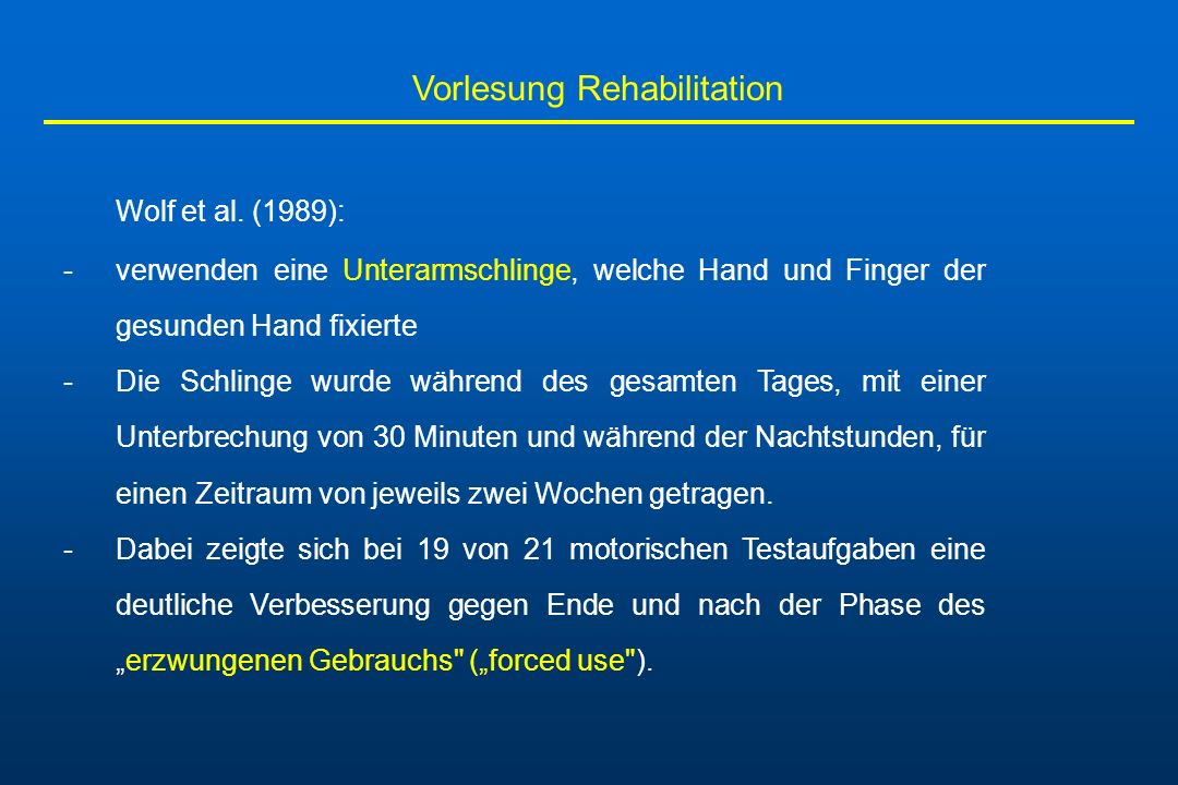 Vorlesung Rehabilitation