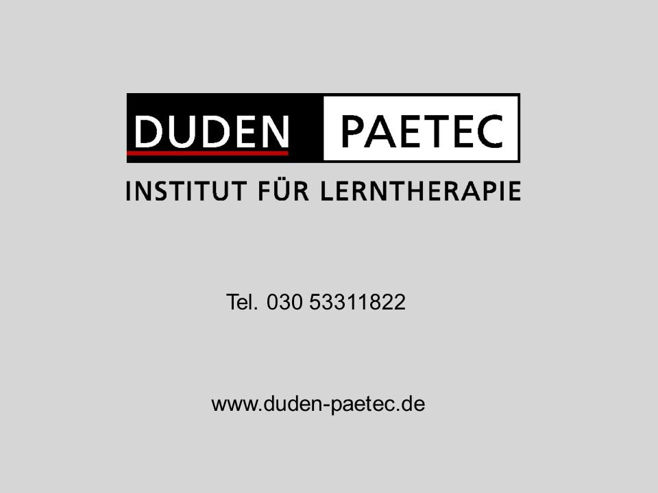 Tel. 030 53311822 www.duden-paetec.de