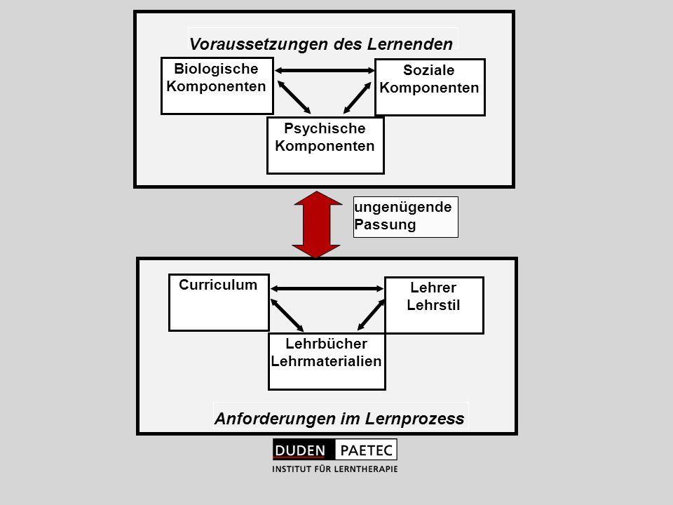 Voraussetzungen des Lernenden