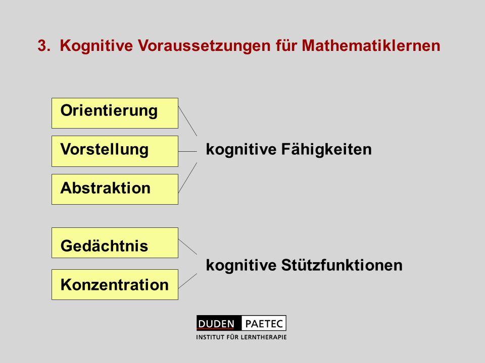 3. Kognitive Voraussetzungen für Mathematiklernen