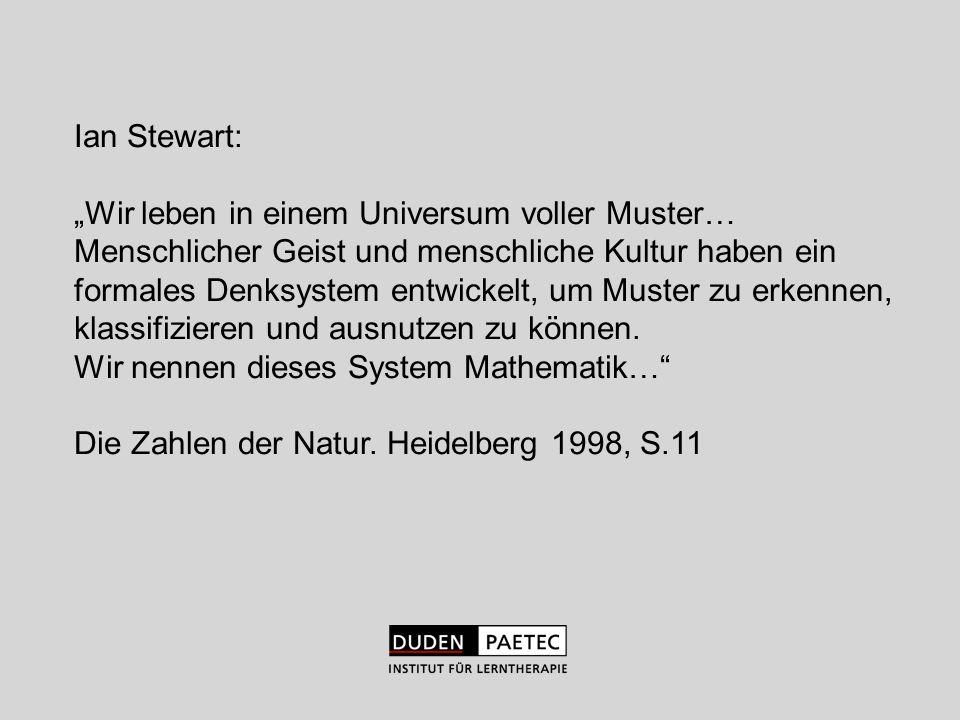 """Ian Stewart:""""Wir leben in einem Universum voller Muster… Menschlicher Geist und menschliche Kultur haben ein."""