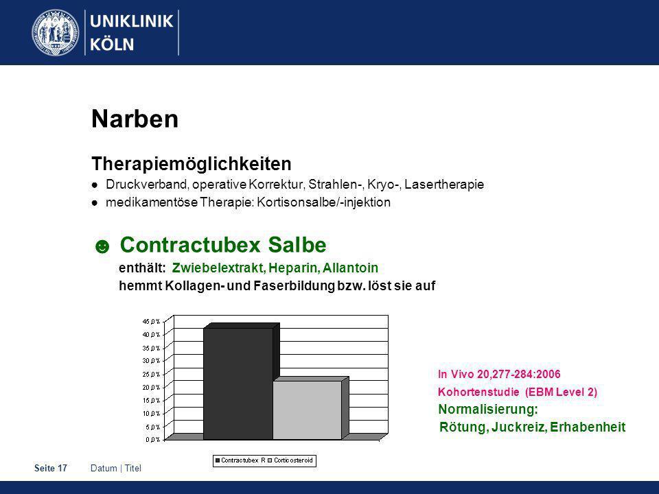 Narben ☻ Contractubex Salbe Therapiemöglichkeiten