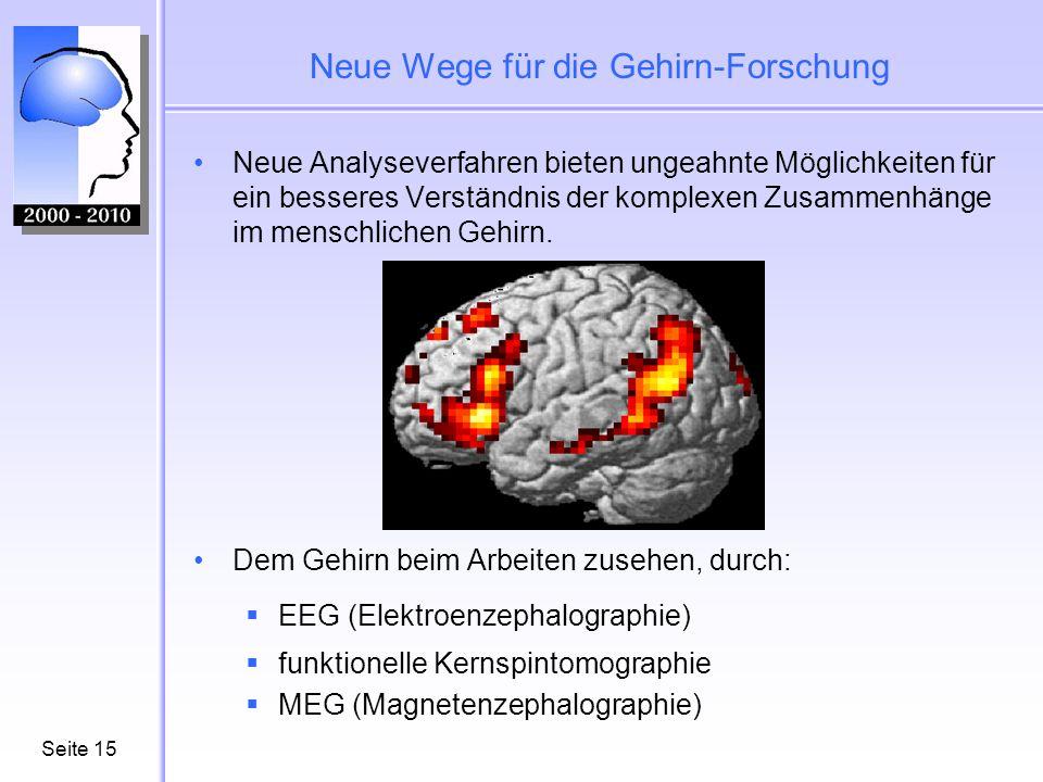 Neue Wege für die Gehirn-Forschung