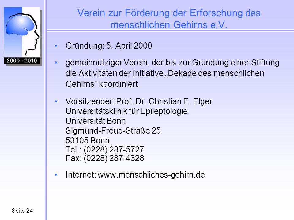 Verein zur Förderung der Erforschung des menschlichen Gehirns e.V.