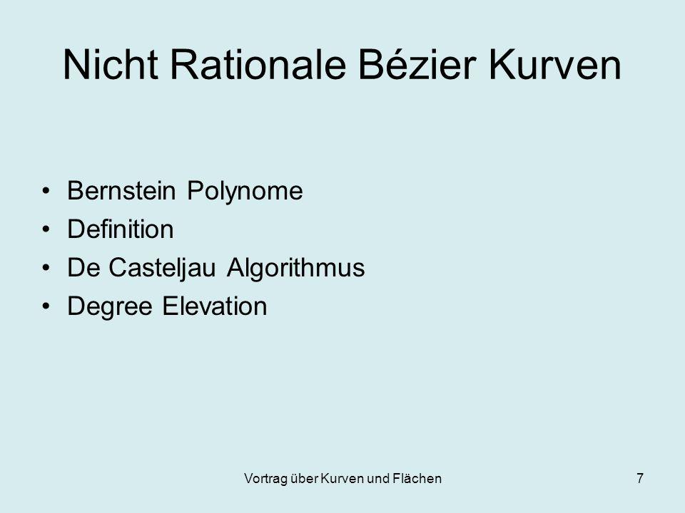 Nicht Rationale Bézier Kurven