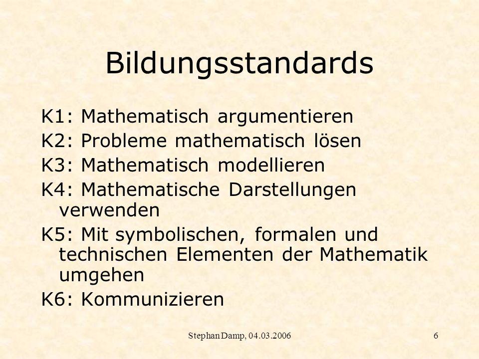 Bildungsstandards K1: Mathematisch argumentieren