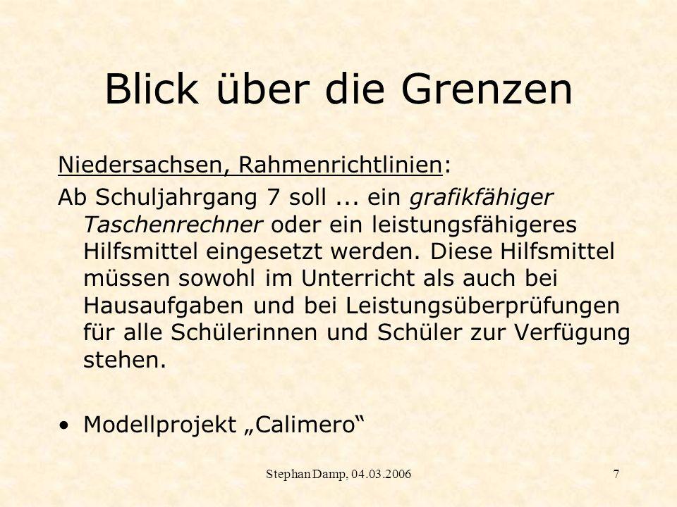 Blick über die Grenzen Niedersachsen, Rahmenrichtlinien: