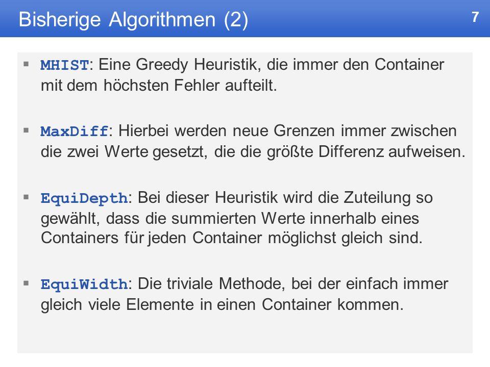 Bisherige Algorithmen (2)