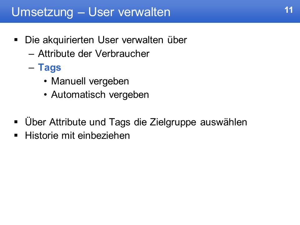 Umsetzung – User verwalten