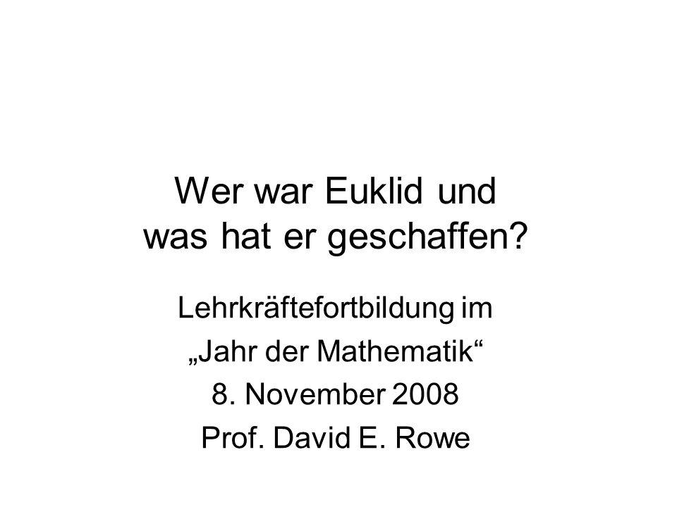 Wer war Euklid und was hat er geschaffen