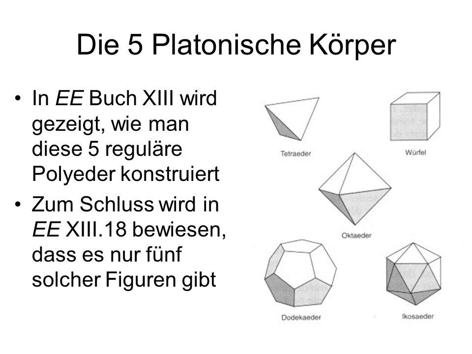 Die 5 Platonische Körper