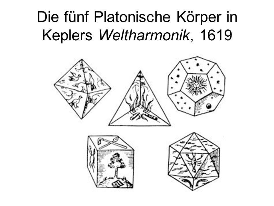 Die fünf Platonische Körper in Keplers Weltharmonik, 1619