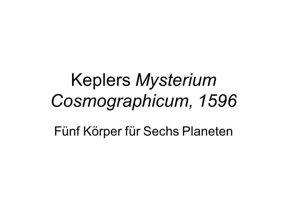 Keplers Mysterium Cosmographicum, 1596