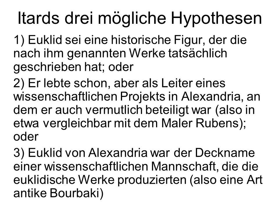 Itards drei mögliche Hypothesen