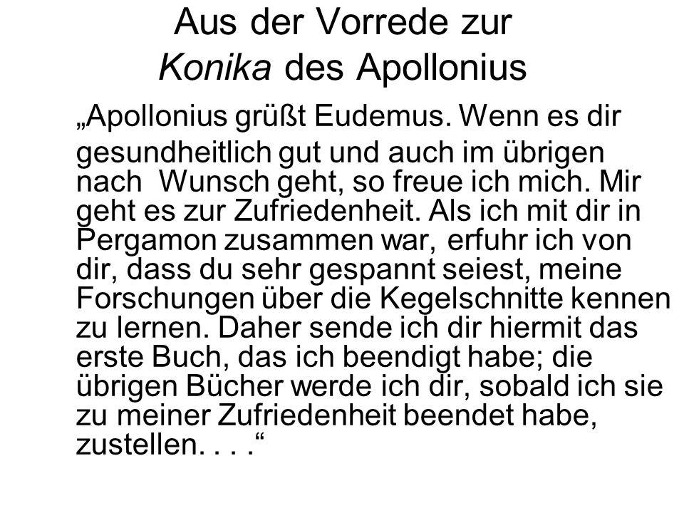 Aus der Vorrede zur Konika des Apollonius