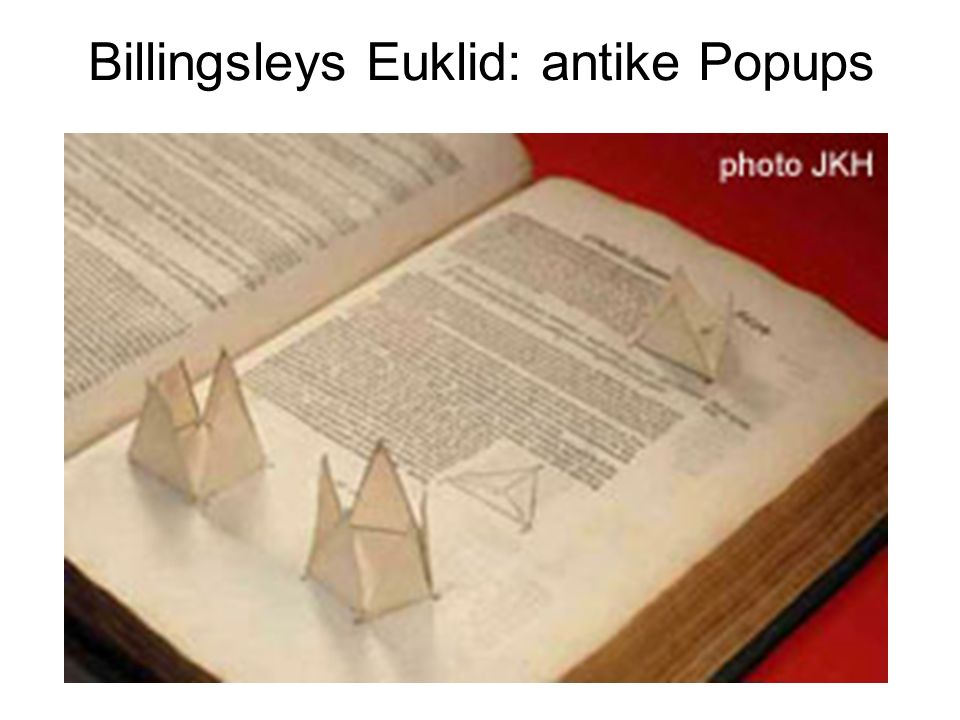 Billingsleys Euklid: antike Popups