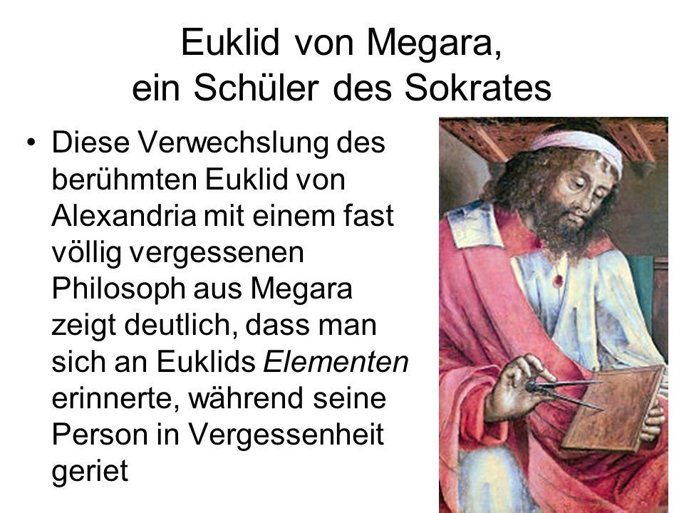 Euklid von Megara, ein Schüler des Sokrates