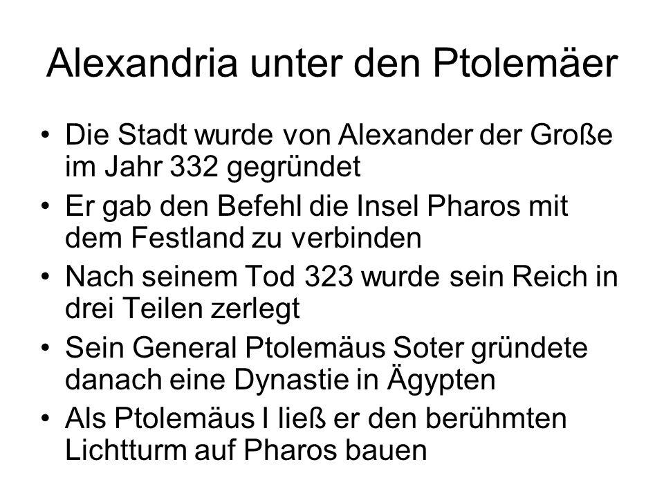 Alexandria unter den Ptolemäer