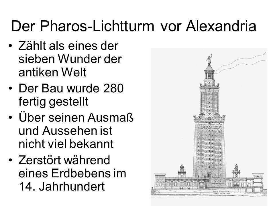 Der Pharos-Lichtturm vor Alexandria