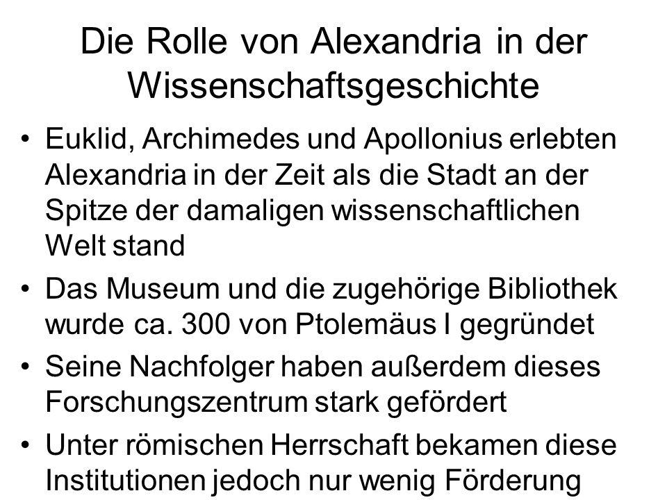 Die Rolle von Alexandria in der Wissenschaftsgeschichte