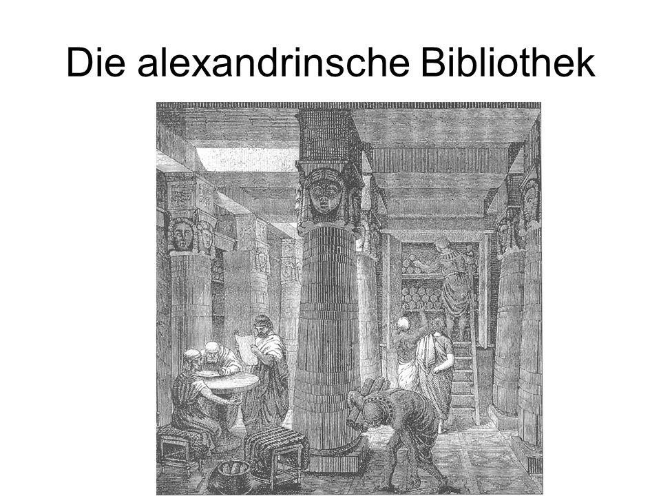 Die alexandrinsche Bibliothek
