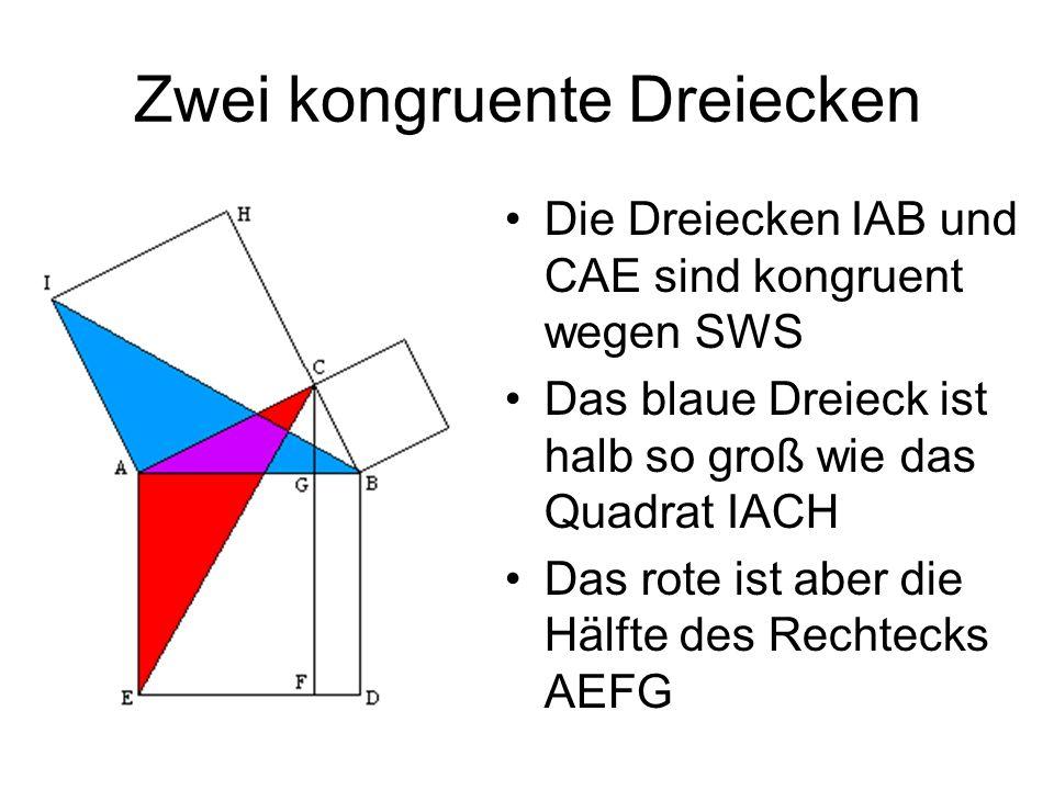 Zwei kongruente Dreiecken