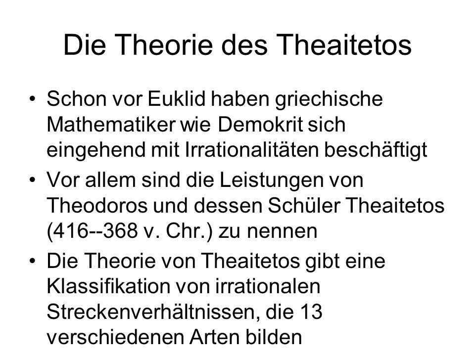 Die Theorie des Theaitetos