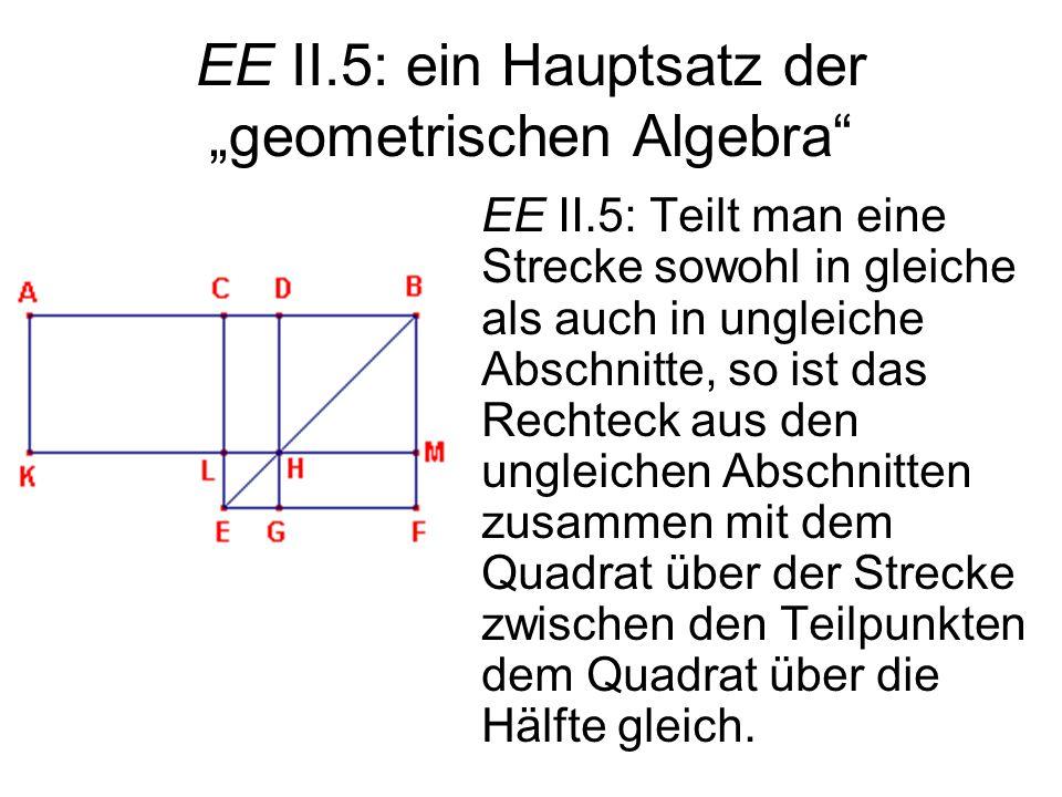 """EE II.5: ein Hauptsatz der """"geometrischen Algebra"""