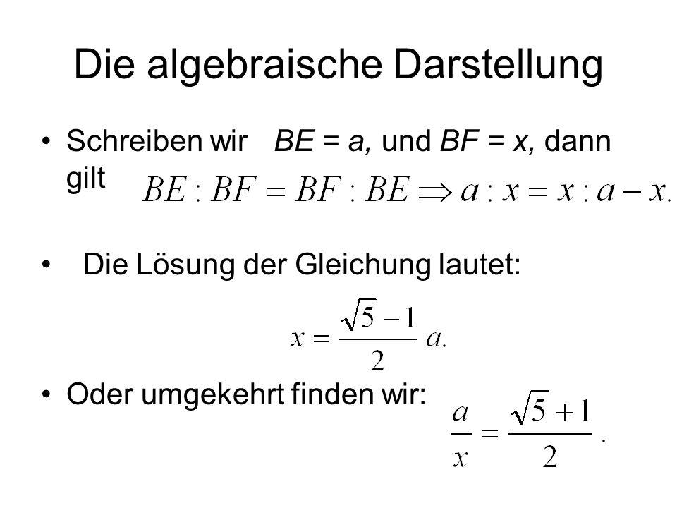 Die algebraische Darstellung