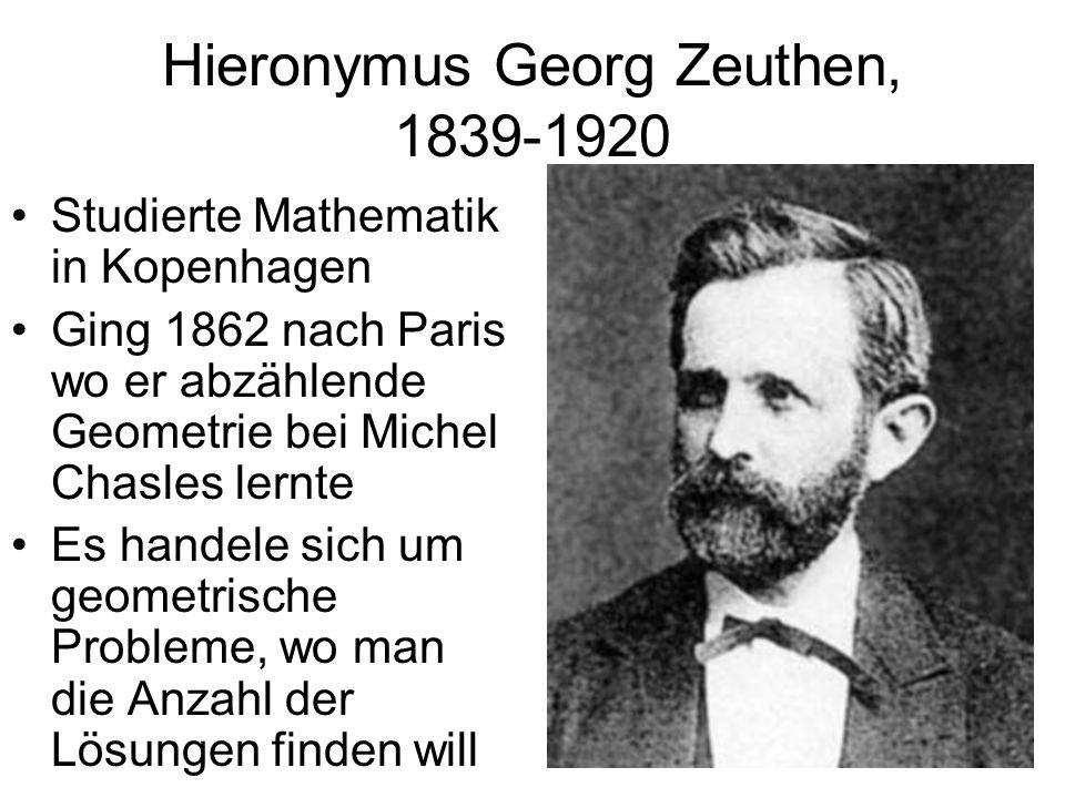 Hieronymus Georg Zeuthen, 1839-1920