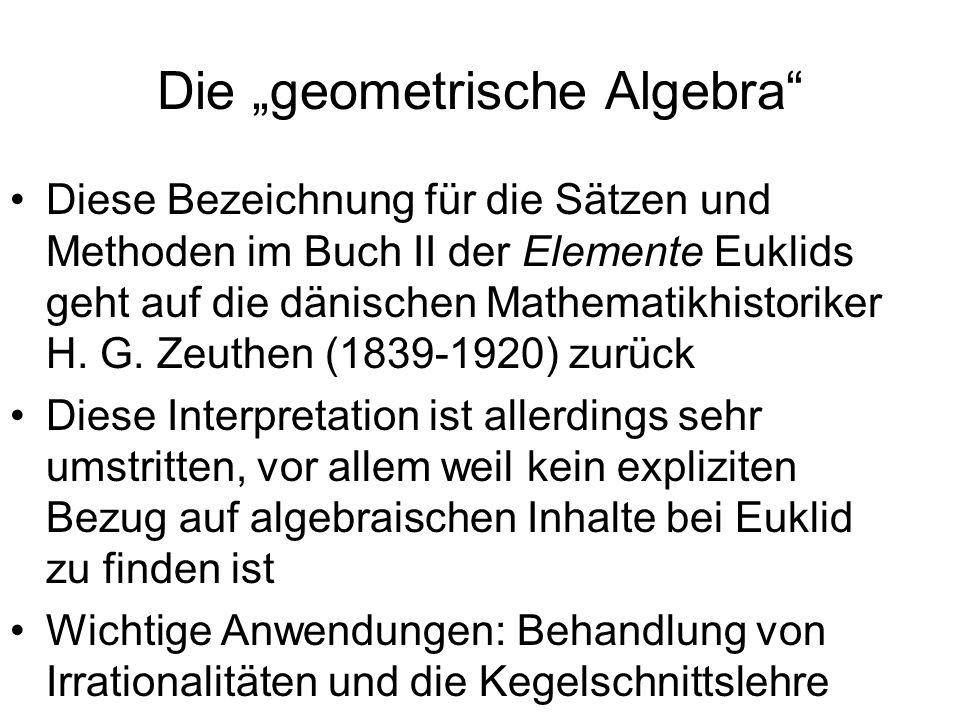 """Die """"geometrische Algebra"""