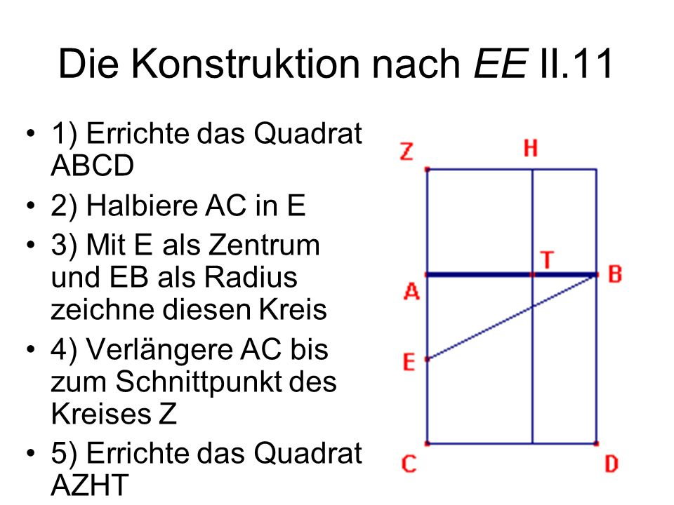 Die Konstruktion nach EE II.11
